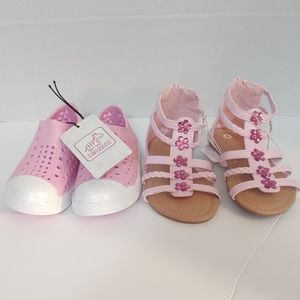 Pair of cute Pink Toddler Girl Shoes